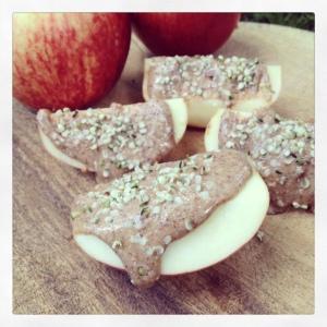 Almond & Hemp Apple Wedges